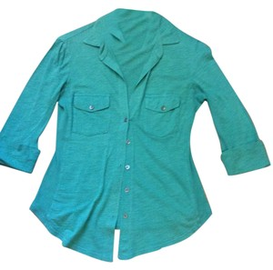 James Perse Button Down Shirt Emerald green