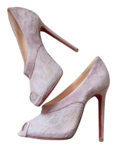 Christian Louboutin Suede Lace nude/pink Pumps