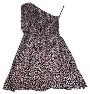 Kardashian Kollection short dress Cheetah print black pink on Tradesy