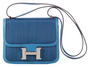 Hermès Denim Blue Hr.k0712.04 Small Cross Body Bag