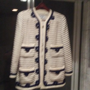 Chanel Navy and Off White Jacket