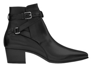 Saint Laurent Leather Black Boots