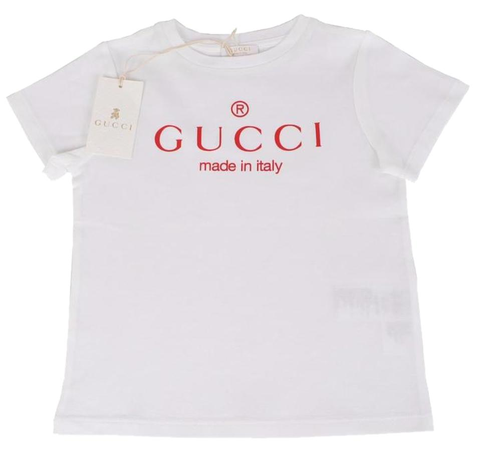4b04fecade1 Gucci White Children 258705 Girls Graphic Print Tee Shirt Size 2 (XS ...