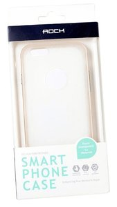 """Other BRAND NEW ROCK Smart Phone Case - Clear and Gold for iPhone 6 4.7"""""""