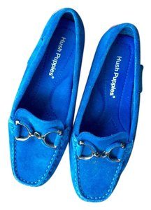 Hush Puppies Suede Loafer Blue Flats