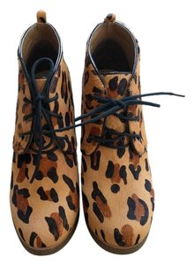 Shoemint Pony Hair Leopard Wedges