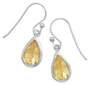 Other Polished Faceted Citrine Earrings
