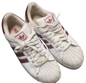 adidas White with red stripes Athletic