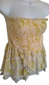 O'Neill Ruffle Top Beige/Yellow/Green