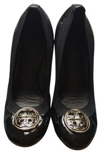 Tory Burch Patent Leather Patent Leather Chic Classic Black Wedges