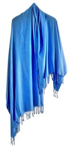 Nordstrom NEW warm and cozy fringed shawl sky-blue