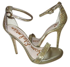 Sam Edelman Glitter Ankle Strap gold Sandals