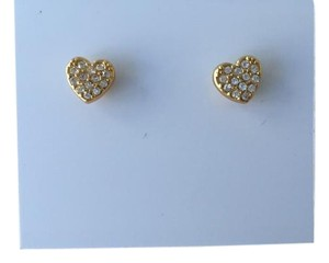 Kate Spade Kate Spade Gold Tone Heart Stud Earrings