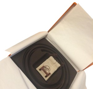 Hermès HERMES BRAND NEW IN BOX REVERSIBLE ROSE GOLD H BELT KIT 13 MM CONSTANCE ROSE/BLACK SZ 80