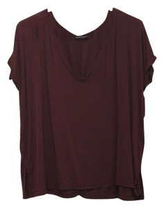 Brandy Melville Cropped T Shirt Maroon