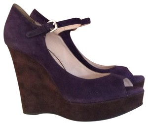 Prada Purple/ brown Wedges
