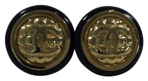 Chanel Chanel Black/Gold Earrings
