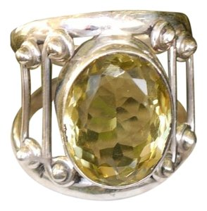 Other Beautiful Sterling Silver Ring with a huge Citrine Gemstone