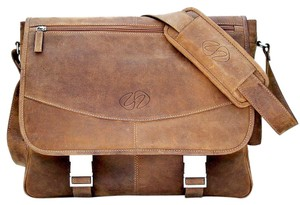Mac Case Premium Vintage Distressed Leather Messenger Bag