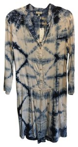 The Odells short dress Blue and Beige Drop Wasit Tie Dye Button Down on Tradesy
