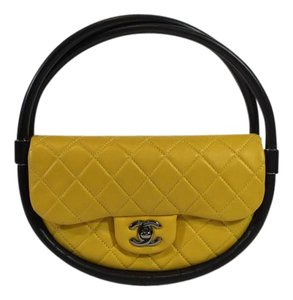 Chanel Hula Hoop Penny Lane Satchel in Yellow and Black