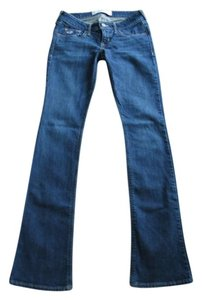 Hollister Boot Cut Pants Dark Blue Denim