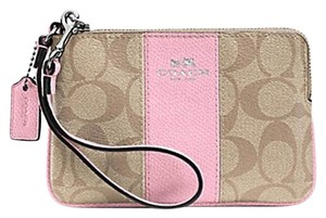 Coach Gift Box Small Monogram Wristlet in Pink