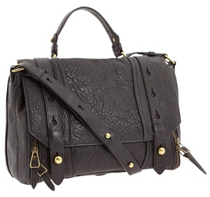 Olivia Harris Messenger Black Soft Genuine Leather Messenger Bag