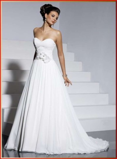 Maggie Sottero Ivory Chiffon Sidney Destination Wedding Dress Size 12 (L)
