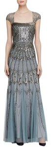 Adrianna Papell Cap Beaded Gown Dress