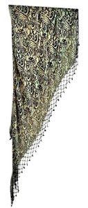 Badgley Mischka NEW luxurious 100% silk beaded-fringed shawl