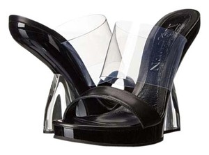 Alexander McQueen Platform Black / Clear Sandals