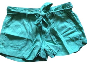 Forever 21 Cuffed Shorts Green