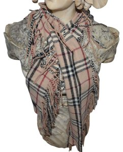 Burberry BURBERRY LONDON Cashmere Nova Check Plaid Happy Fringe Trim Scarf WRAP