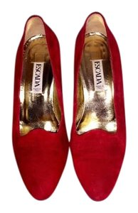 Escada Made In Italy Suede Red Pumps