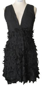 Chan Luu Silk Texture Applique Lbd Dress