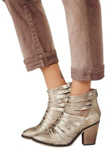 Free People Metallic Gold Boots