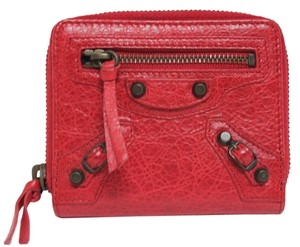 Balenciaga New Balenciaga Classic City Zip Around Red Wallet Bag