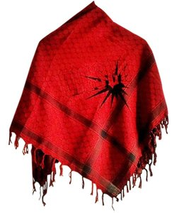 Rag & Bone NEW 100% wool reversible emblem-print fringed shawl