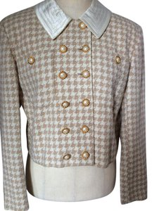 Mondi Jacket Cream/Tan Houndstooth Blazer