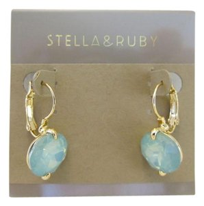 Stella + Ruby Stella + Ruby Crystal Drop Earrings Style #: RBA2098-G-BLU
