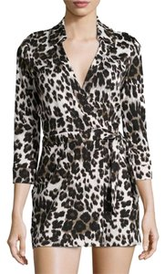 Diane von Furstenberg short dress BLACK AND IVORY Dvf on Tradesy