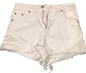 Topshop Cut Off Shorts White