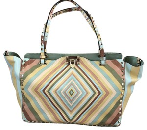 Valentino Tote in Multi/ Teal