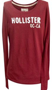 Hollister T Shirt Burgundy