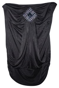 Studio Y Beaded Strapless Top Black