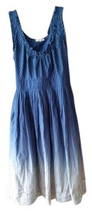 Converse short dress Blue ombre Stripes Ruffles Sash on Tradesy