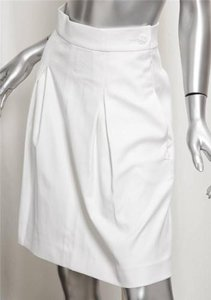 Chanel Spring 2009 Pleat Rt Skirt White