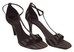 Ralph Lauren Black with grey/silver stripes Pumps