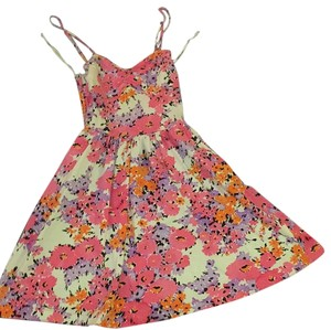 Aéropostale short dress Multicolor Coverup Bustier Top Watercolor A-line on Tradesy